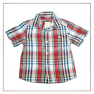 Camisa Zara Infantil Xadrez