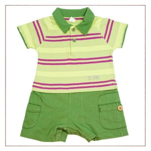 Body Polo Green Infantil