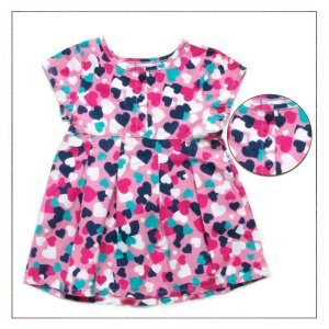 Vestido Hering Infantil Corações