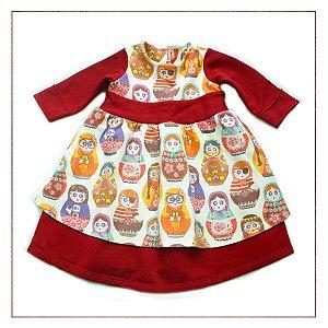 Vestido Infantil OVO Bonecas
