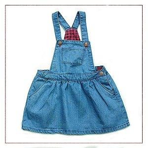 Macacão Jeans Zara Kids Saia