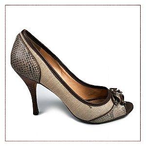 Peep Toe Marrom Shoestock