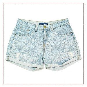 Shorts Riachuelo Jeans Estampado