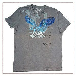 Camiseta American Eagle Cinza 264f12245b73a