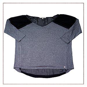 Blusa Shoulder Cinza