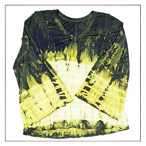 Blusa Descolorida Verde