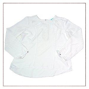 Blusa Branca Meia- Estação