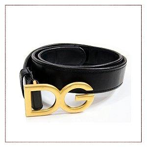 Cinto Dolce&Gabbana Preto e Dourado