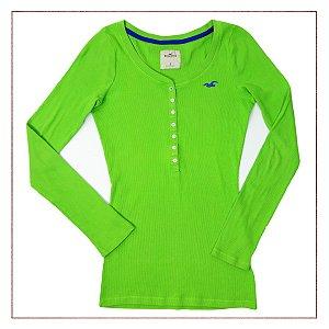 Blusa Hollister Verde-Limão
