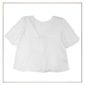Blusa Frente Zara Branca