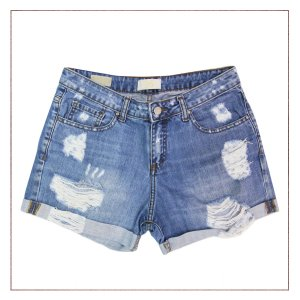 Shorts Zara Destroyed