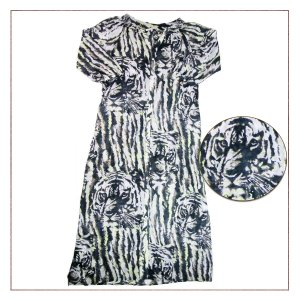 Vestido Longo Shoulder Estampado
