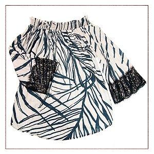 Blusa Shoulder Ciganinha
