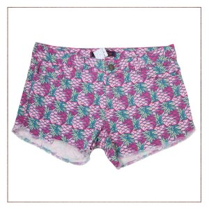 Shorts Rosa Gringa.com Abacaxi