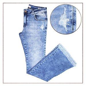 Calça Jeans Desfiada B.Rock