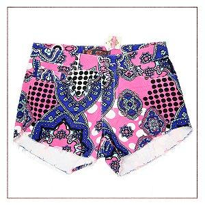 Shorts Étnico Rosa Gringa.com