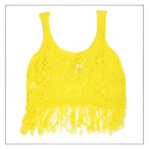 Cropped Tricot Amarelo