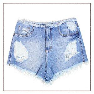 Shorts Jeans B.Rock Desfiados