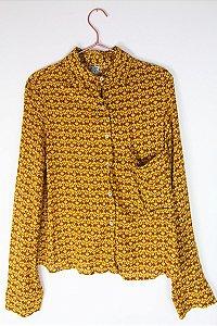 Camisa Farm Marrom e Amarela