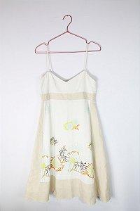 Vestido MOB Branco Florido