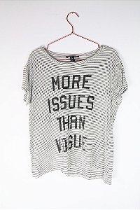 Camiseta Forever 21 Listras Escrita