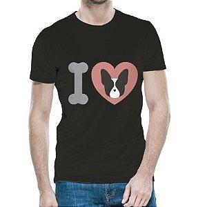 Camiseta Love Boston Terrier Black Masculina