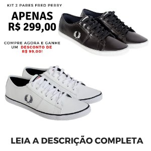 Kit 2 Pares Sapatênis Fred Perry