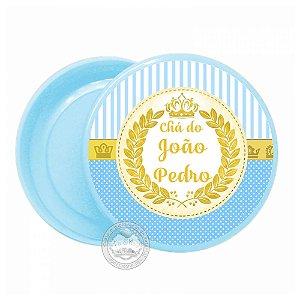 Latinha personalizada Coroa Azul - 10 unidades