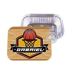 Marmitinha personalizada basquete - 10 unidades