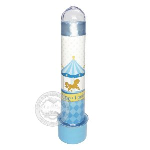 Tubete Personalizado Carrossel Encantado Azul - 10 unidades