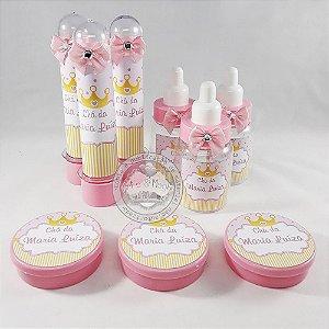 Lembrancinha Personalizada Chá de Bebe Coroa Rosa