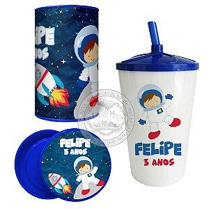 Kit Lembrancinhas Festa em Casa Astronauta
