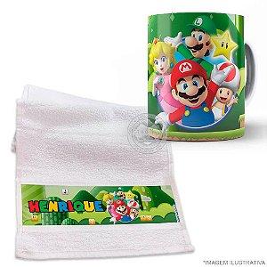 Kit Caneca com Toalhinha Super Mario