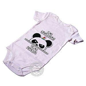 Body para bebê 5 % Unicorn 95% Ninja