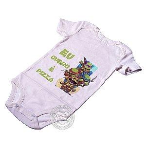 Body para bebê Tartarugas Ninja