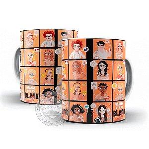 Caneca serie Orange Black