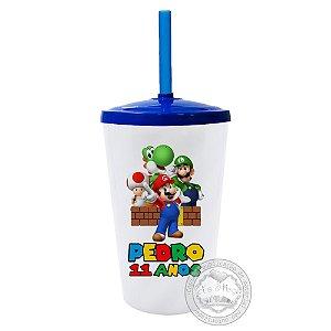 30 Copo Twister Personalizado Super Mario