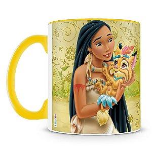 Caneca Personalizada Princesas & Pets (Pocahontas)