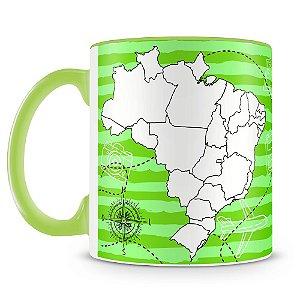 Caneca Personalizada Mapa do Brasil Para Colorir