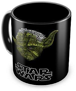 Caneca Personalizada Star Wars Mestre Yoda (100% Preta)