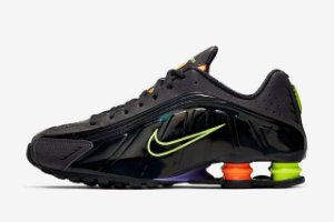 Tênis Nike Shox R4 Gel Black Neon- Unissex