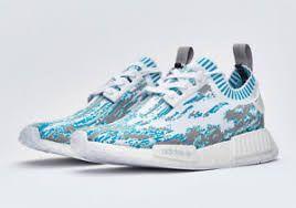 Tênis Adidas NMD R1 PK Datamosh-  Branco Com  Azul