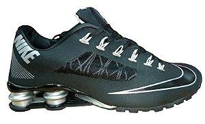Tênis Nike Shox R4- Preto Com Prata Masculino''