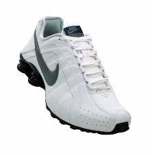 Tênis Nike Shox Júnior - BRANCO COM PRETO
