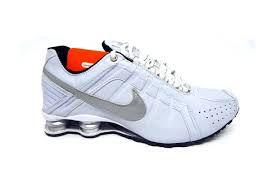 Tênis Nike Shox Junior - Branco Com Prata