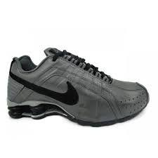 ( Promoção )Tênis Nike Shox Junior - Cinza com Preto