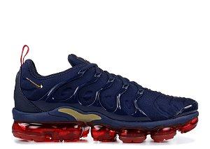 Tênis Nike Air Vapor Max Plus- Azul Marinho com Vermelho Masculino