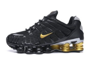 Tênis Nike Shox TL 12 Molas – Preto com Dourado Masculino