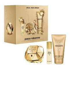 Lady Million Edp 80ml + Body Lotion 100ml + Miniatura 15ml