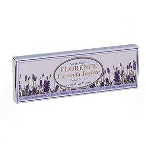 Kit 3 Sabonetes Florence Savon Creme Lavanda Inglesa Luxo 80g